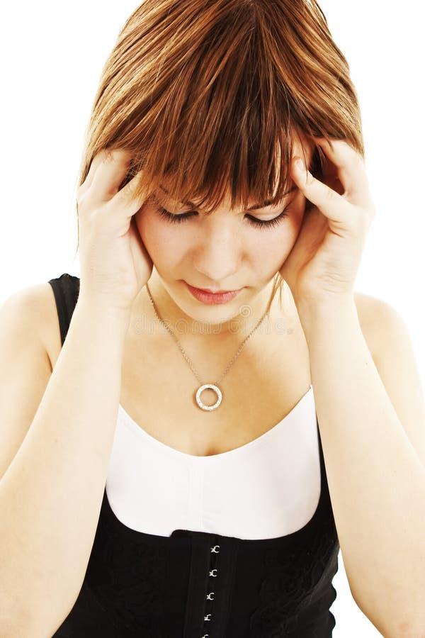 Download Headache stock image. Image of lady, headache, hand, beautiful - 22051771