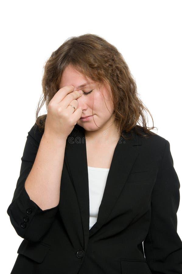 Download Headache stock image. Image of portrait, brunette, headache - 27303401