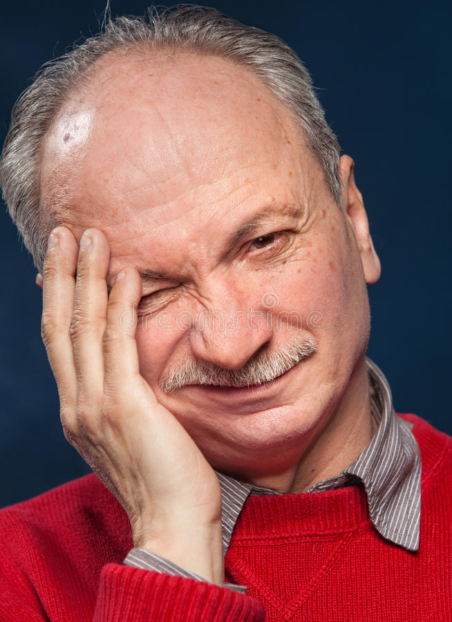 Download Headache stock image. Image of senior, emotional, real - 27714355