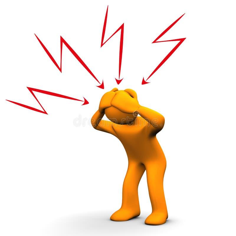 Download Headache stock illustration. Image of white, sick, cephalea - 28971493