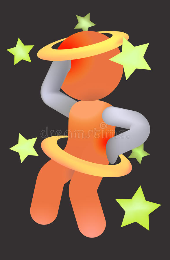 Headache and Backache Pain Abstract Illustration royalty free stock photo