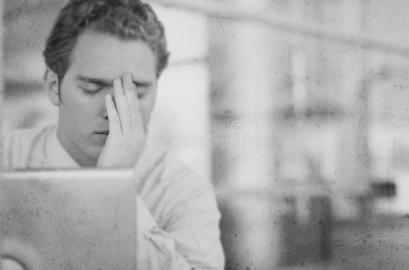 Headache Black and White stock photos