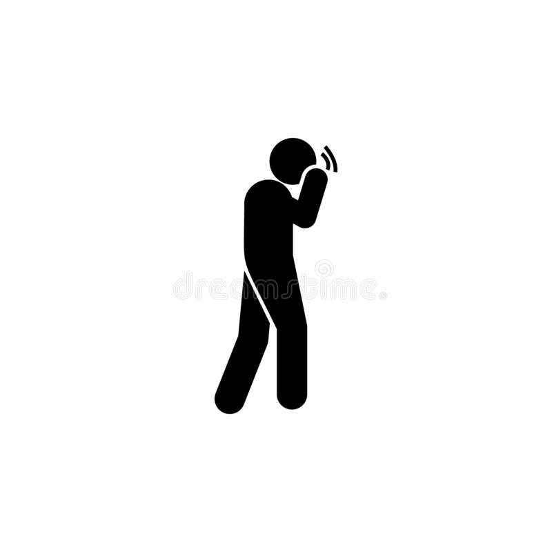 Headache, cramp icon. Element of amyotrophic lateral sclerosis icon. On white background vector illustration