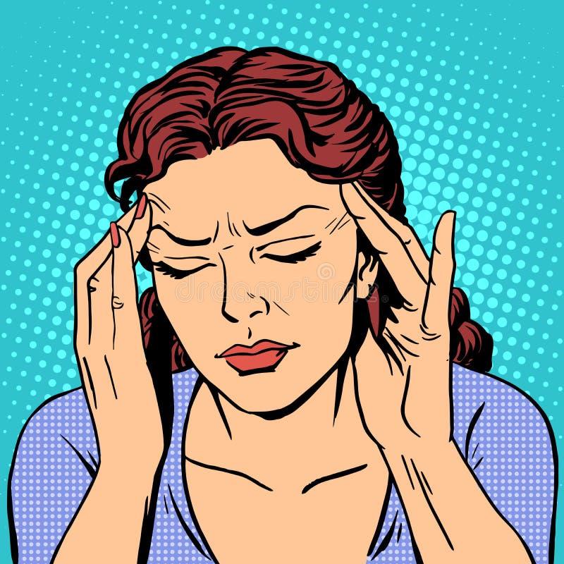 Free Headache Health Medicine Woman Royalty Free Stock Image - 61211876