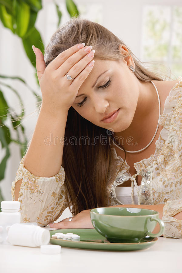 Download Headache and pills stock photo. Image of hospital, expression - 9783172