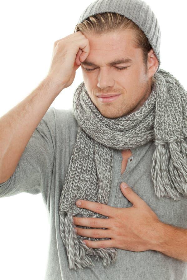 Headache and stomache stock photos