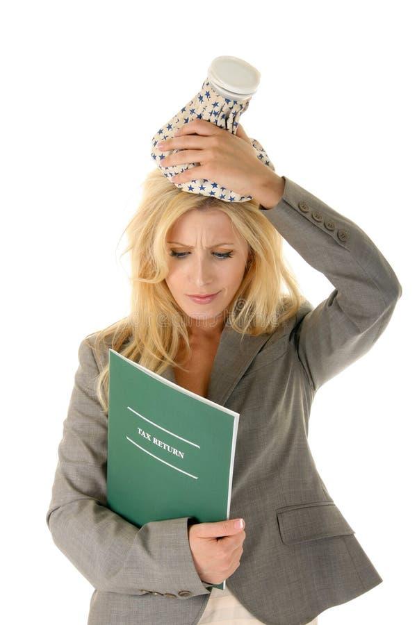headache tax στοκ εικόνες