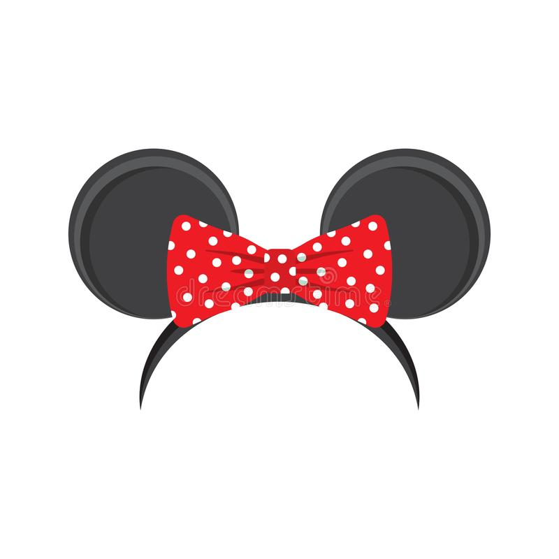 Headband αυτιών ποντικιών για καρναβάλι απεικόνιση αποθεμάτων