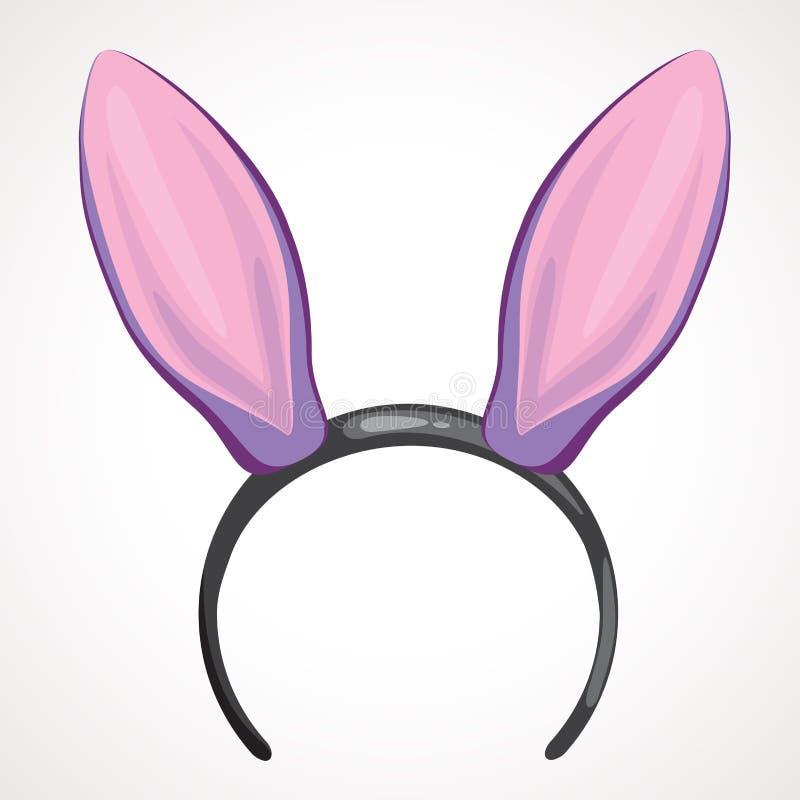 Headband κινούμενων σχεδίων εικονίδιο με τα αυτιά μορφής κουνελιών απεικόνιση αποθεμάτων