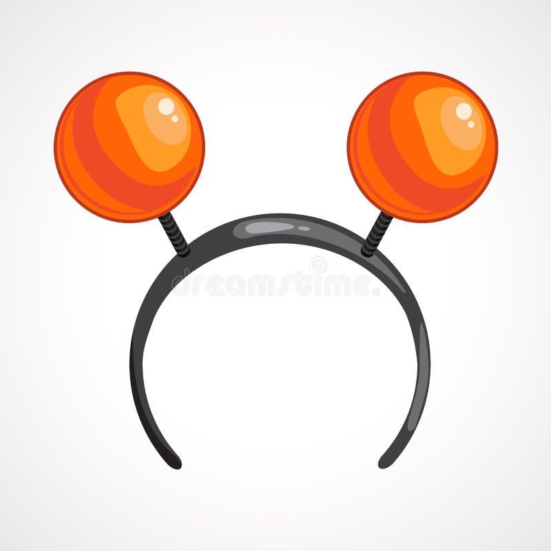 Headband κινούμενων σχεδίων εικονίδιο με τις σφαίρες r απεικόνιση αποθεμάτων