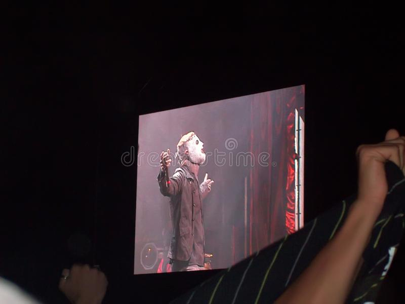 Headbangers al concerto nel Portogallo immagine stock libera da diritti