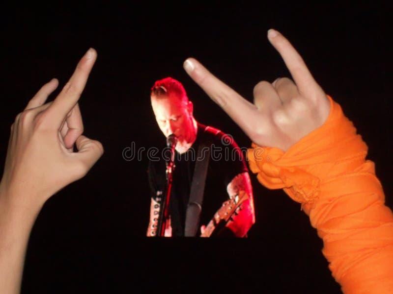 Headbangers al concerto nel Portogallo fotografie stock libere da diritti