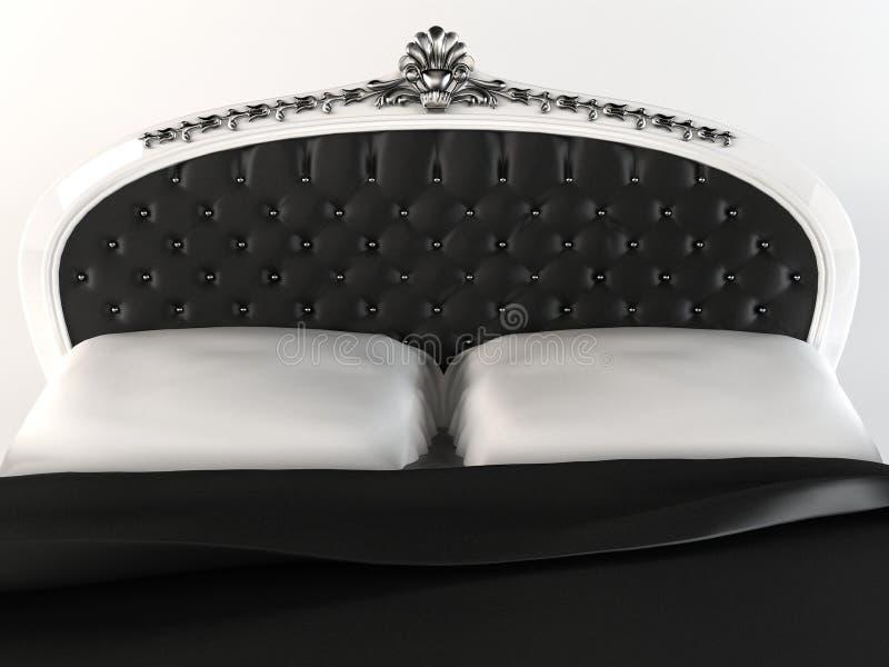 Headboard luxuoso com frame decorativo. ilustração stock