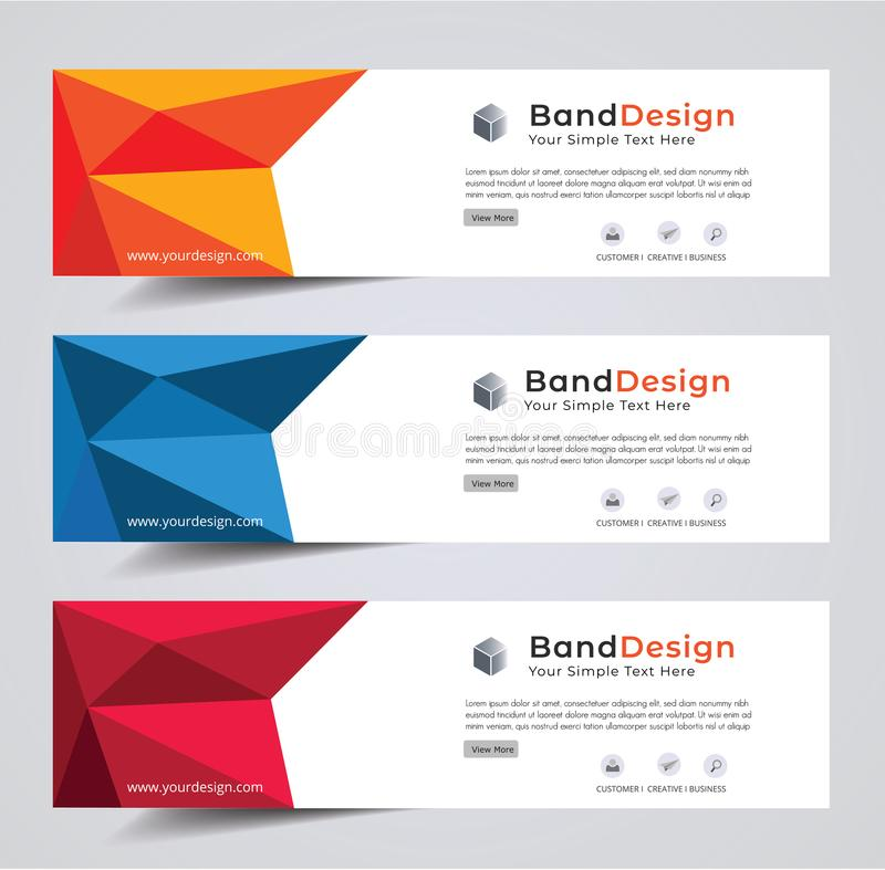 Header Banner Social design Vector frame background. used for cover page design. Abstract Header Banner design Vector Background for cover page website and royalty free illustration