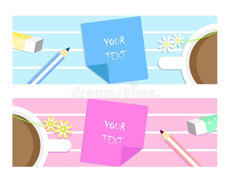 Header banner text box stock illustration