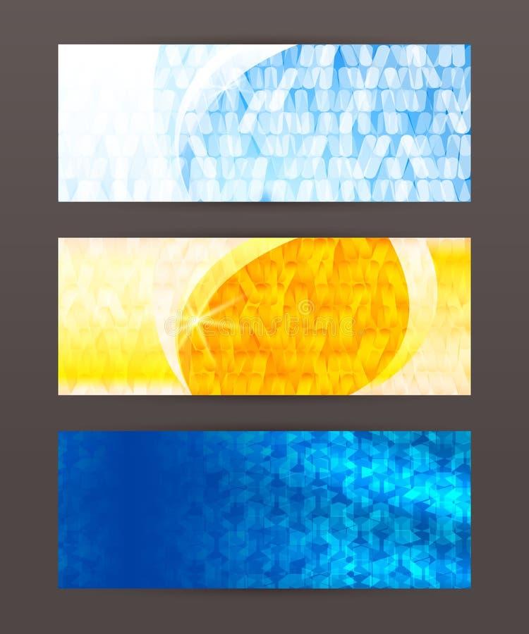 Header design element mesh set horizontal banner. Design elements business presentation template. Vector illustration horizontal web banners background, backdrop royalty free illustration