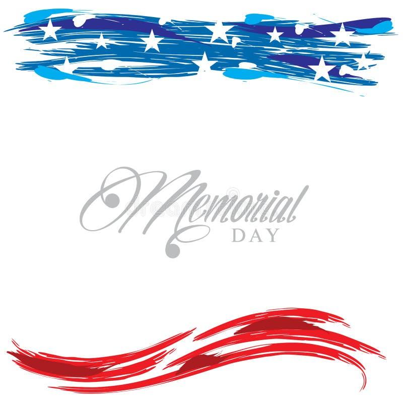 Header Footer United States patriotic design for Memorial Day vector illustration