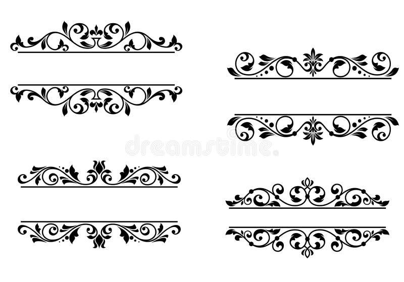 Header frame with retro floral stock illustration