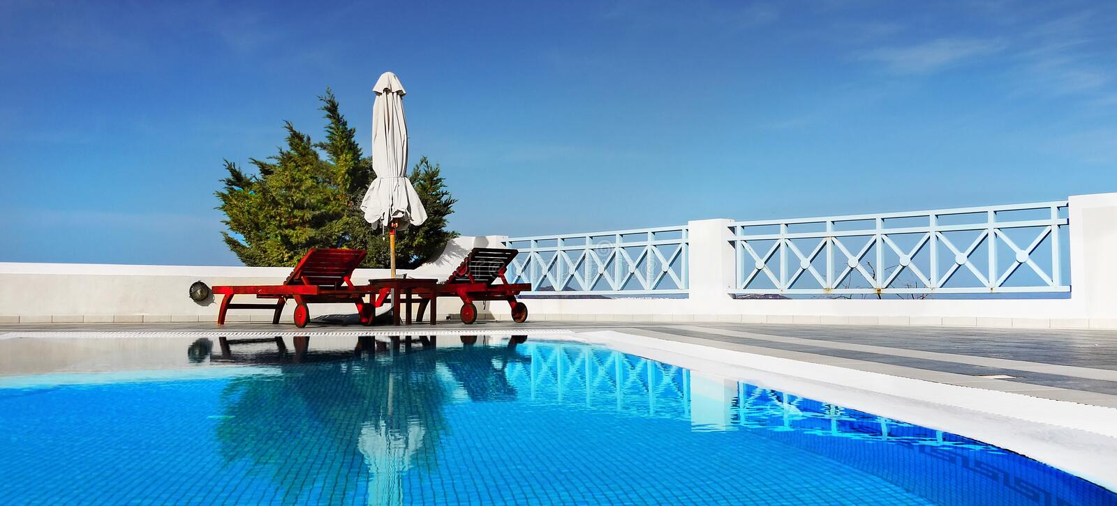 Header Swimming Pool Spa Relaxation royalty free stock image