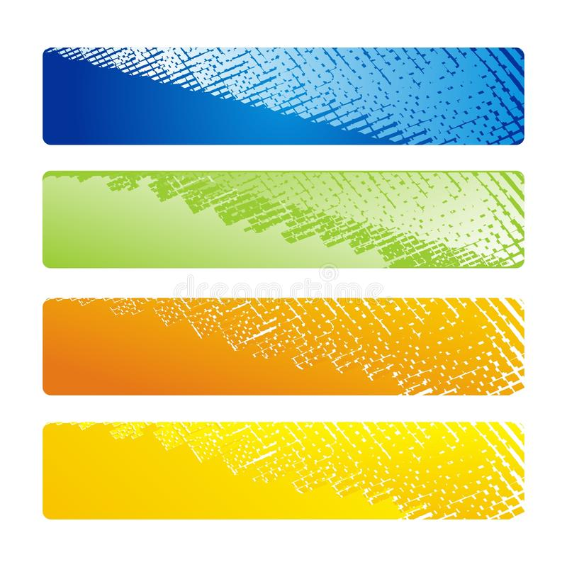 Headers or Banners stock illustration