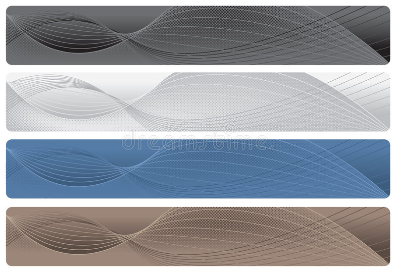 Headers/Banners - Neutrals royalty free illustration