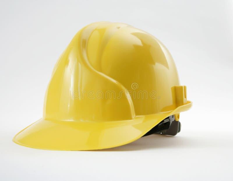 Headgear amarelo da segurança foto de stock royalty free