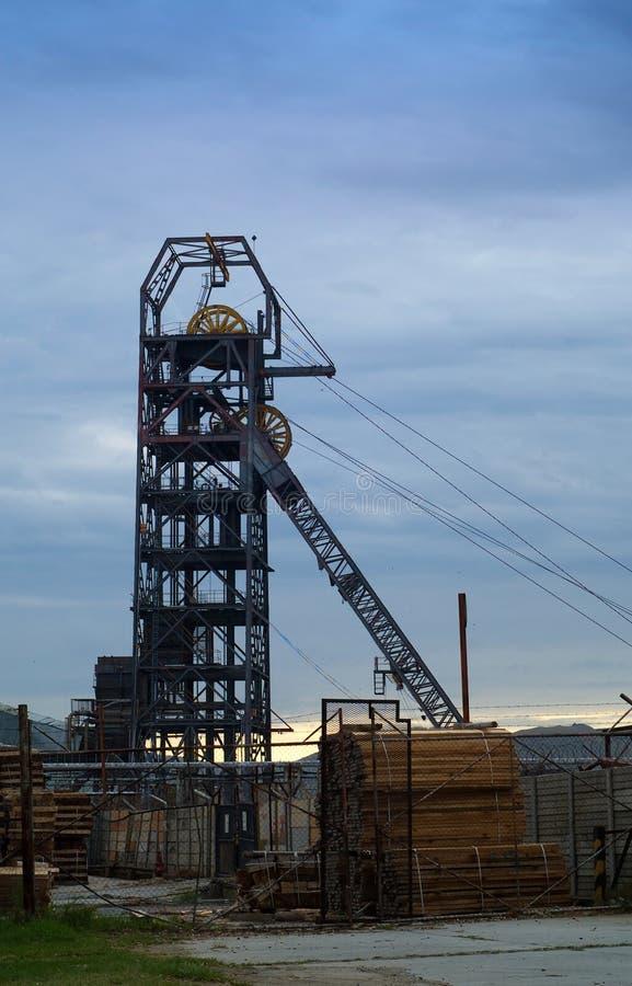 Headgear da mina da mineração imagem de stock