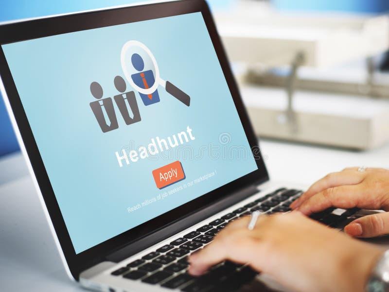 Headhunt聘用人力资源概念的Headhunting 免版税图库摄影