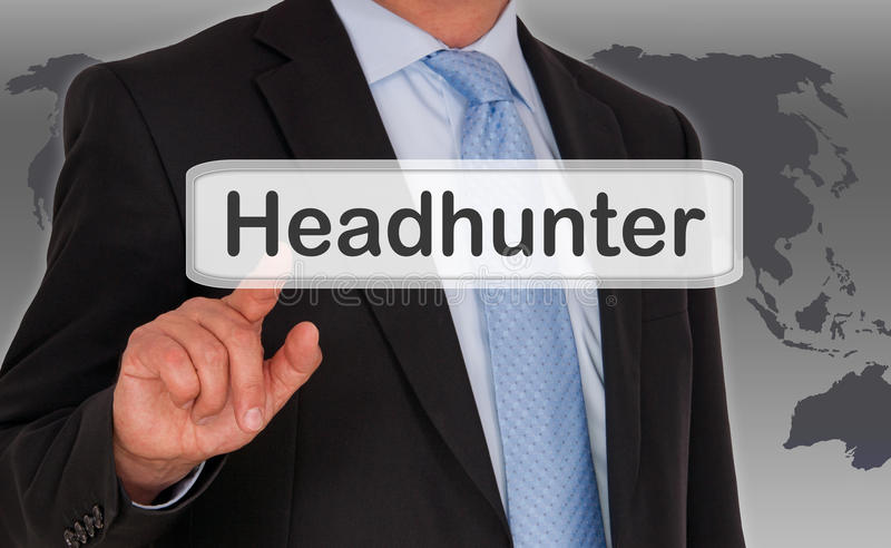 headhunter fotografia de stock