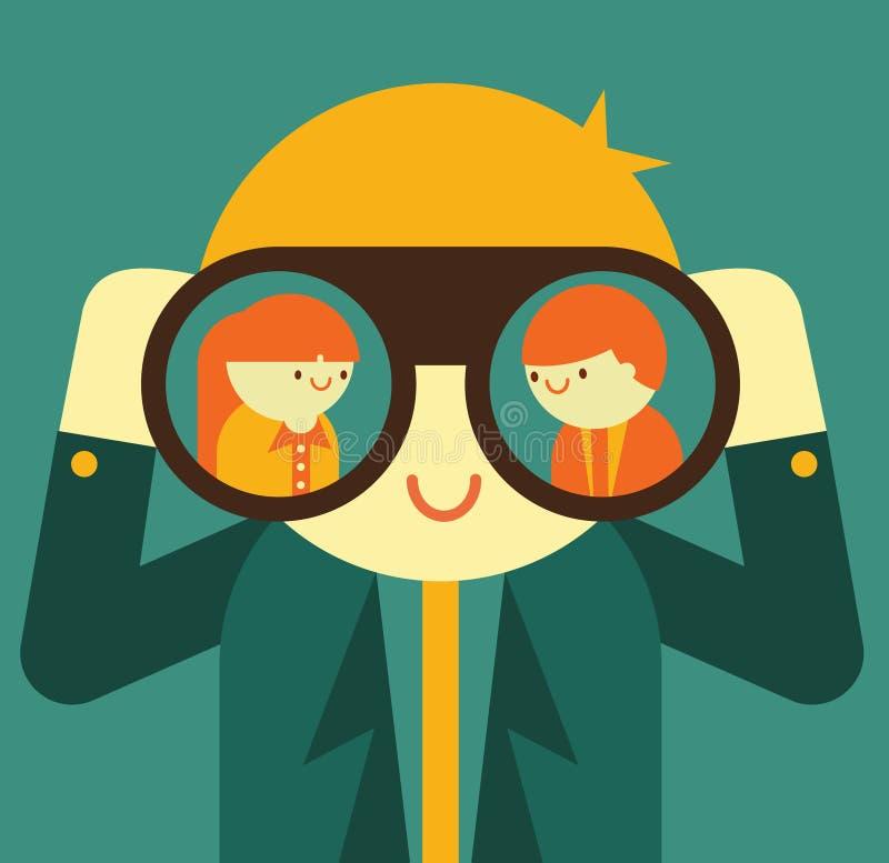 headhunter illustrazione di stock
