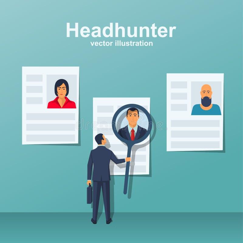 Headhunter pojęcia wektor royalty ilustracja