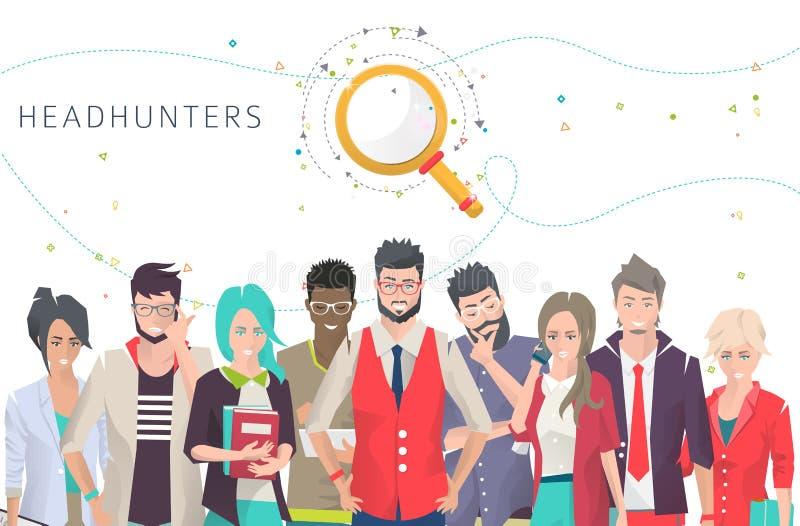 headhunters иллюстрация вектора