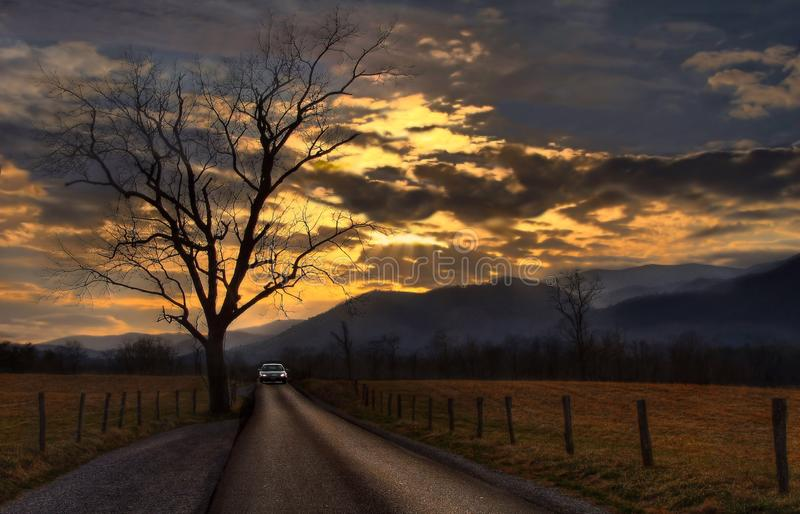 Heading Home Before The Storm stock photography