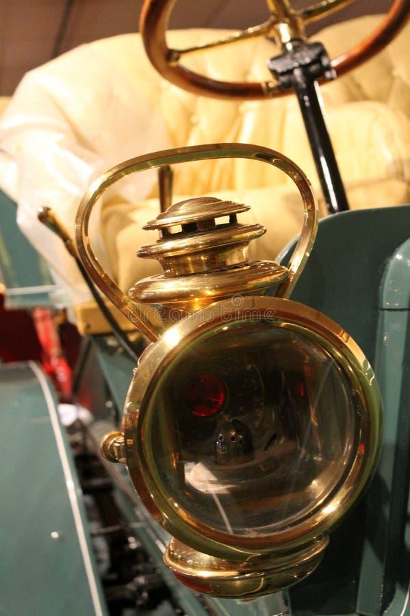 headlamp газа автомобиля 1900s винтажный американский стоковое изображение rf