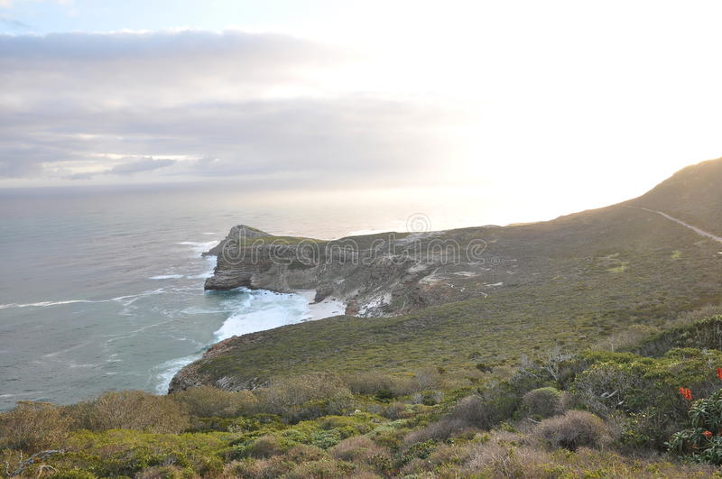 Headland at Cape Point National Park stock photo