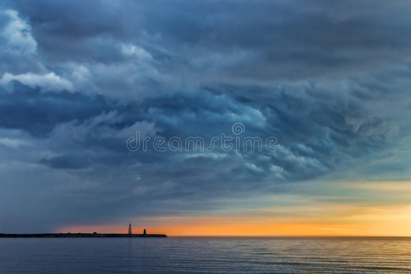 Headland Menshikov на Novaya Zemlya стоковые изображения rf