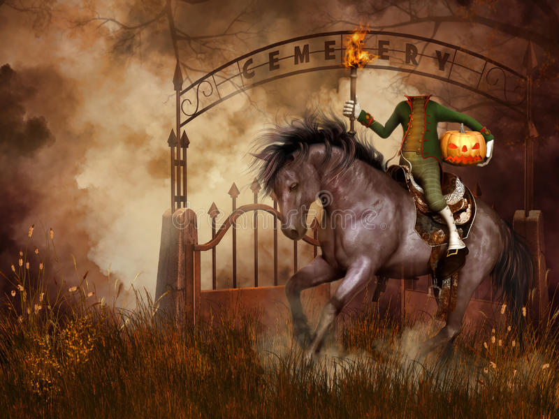 Headless horseman vector illustration