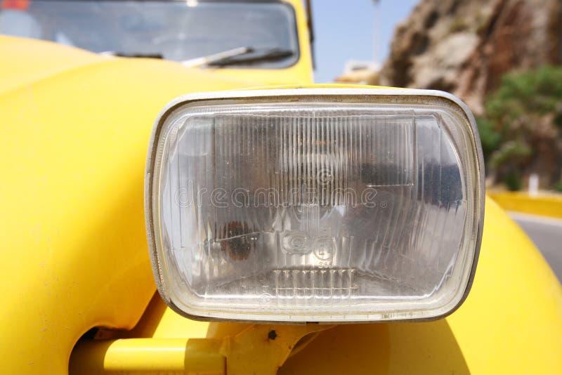Download Headlight stock image. Image of funny, yellow, auto, metal - 1017445