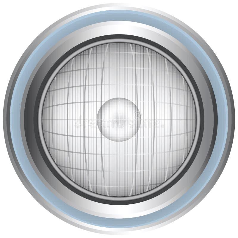 Download Headlight stock vector. Image of glass, shine, metal - 20799063