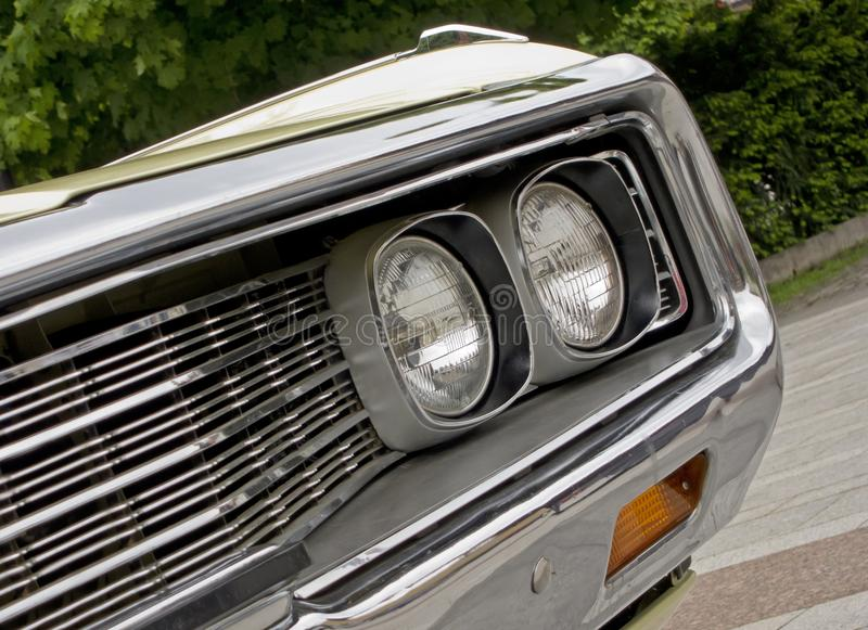 Download Headlight Of American Muscle Car Stock Image - Image: 20497789