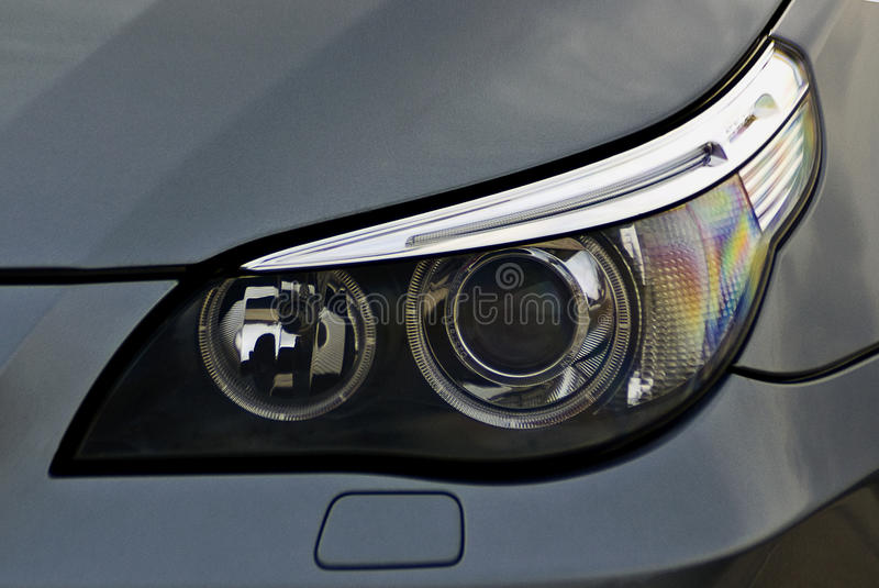 Headlight of a car royalty free stock images