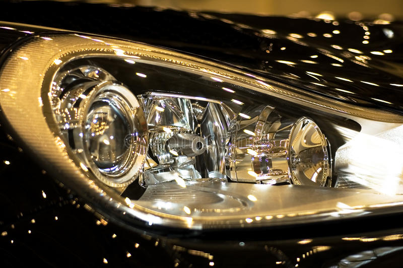 Download Headlight of the car stock image. Image of sports, fast - 14676905