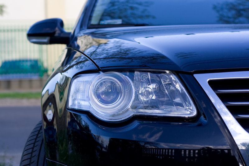 headlight of the car stock images