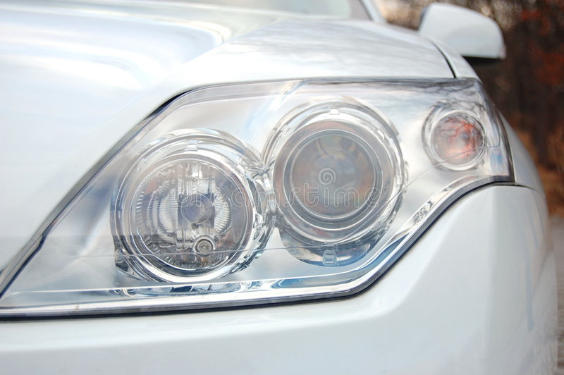 Headlight of a car royalty free stock photo