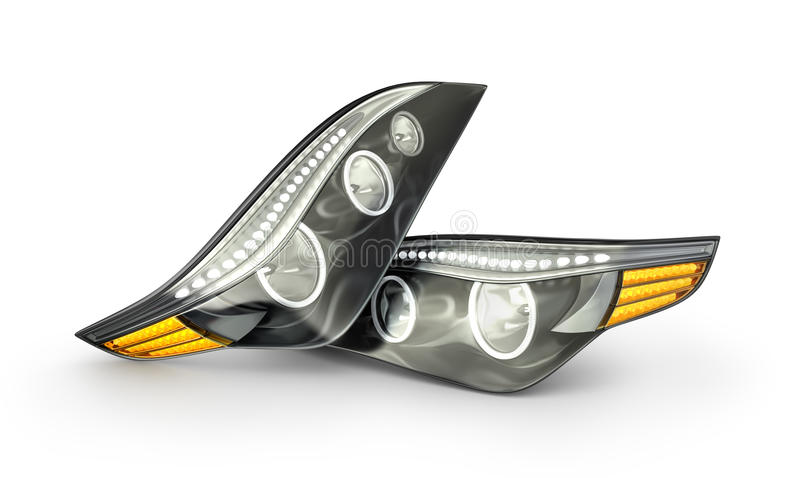 Headlight car stock image