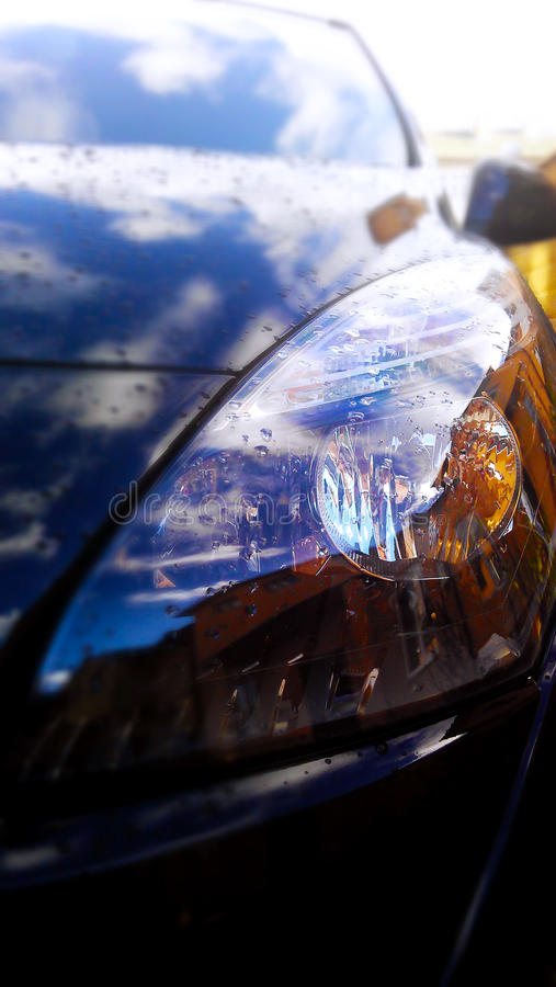 Headlight car stock image