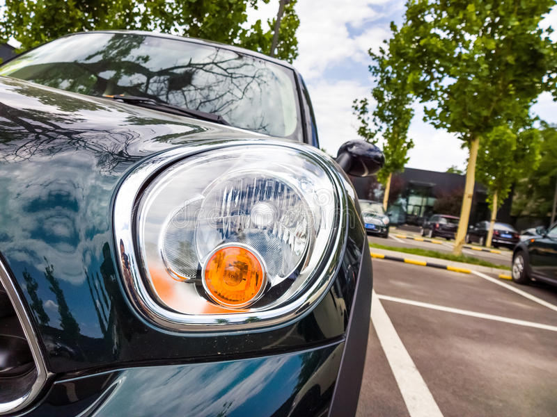 Download Headlight stock image. Image of green, grilles, chrome - 41522413