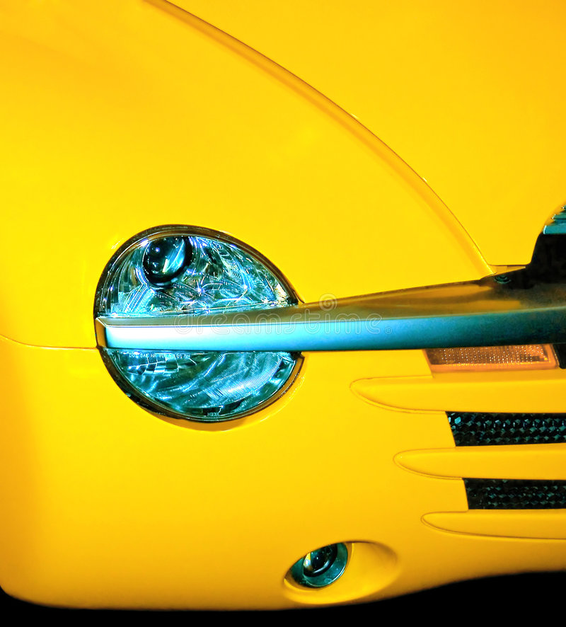 Headlight detail stock photography