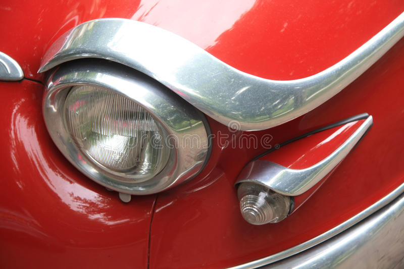 Headlight Detail Of A Vintage French Car Stock Photography