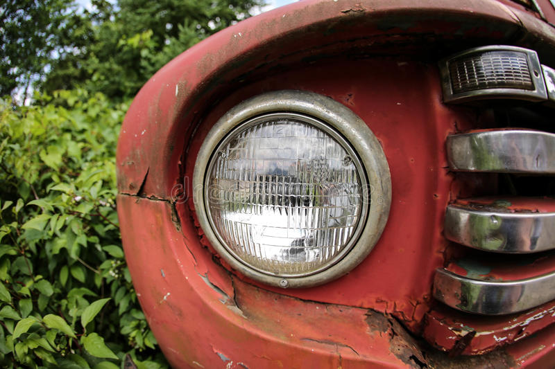 Headlight and grill stock photography